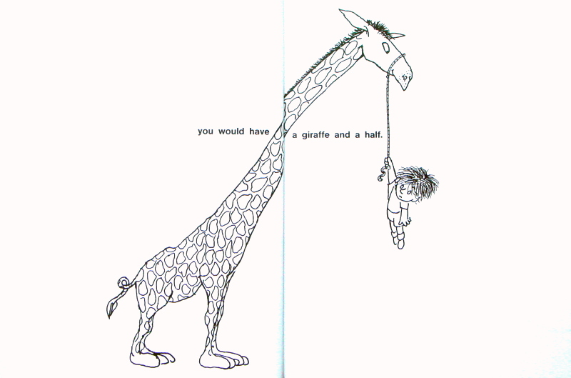 Shel Silverstein Illustrations: Laughter Generator: A Giraffe And A Half By Shel