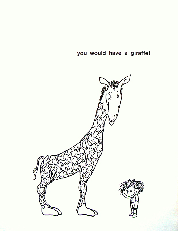 Laughter Generator A Giraffe And A Half By Shel Silverstein on Rhyming Word